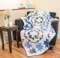 Moda Blue Waltz Quilt Kit - White
