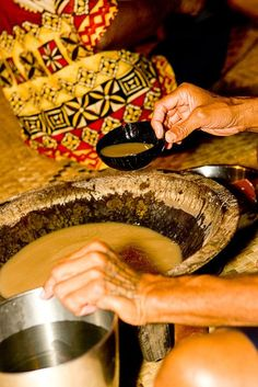 Kava Ceremony ~ been known to  drink heaps of this stuff (Kava from Fiji & Vanuatu)