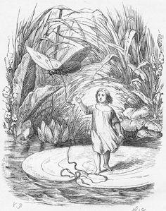 """""""Dentro de la flor, sobre los verdes y aterciopelados estambres, estaba sentada una delicada y graciosa doncellita, cuyo tamaño era escasamente la mitad del largo de un dedo pulgar. Al verla tan pequeña, le dieron el nombre de Pulgarcita."""" Pulgarcita; Hans Christian Andersen. Por @dakinimj"""
