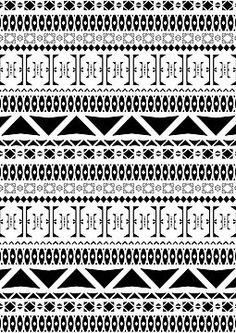 Black & White Aztec Pattern
