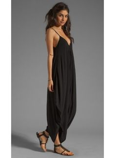 INDAH Solid Black Jumpsuit- Perfect Bohemian style