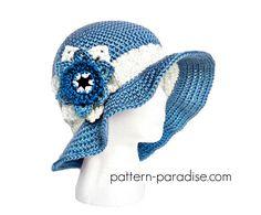 Free crochet pattern for sunhat by Pattern-Paradise.com #sunhat #hat #beachhat #freepattern #freecrochet #patternparadisecrochet