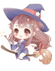 Little Witch Akko by Vanilla-Cherie on DeviantArt Kawaii Neko Girl, Chibi Kawaii, Chibi Girl, Cute Anime Chibi, Dibujos Anime Chibi, Cute Bunny Cartoon, Anime Witch, Cute Animal Drawings Kawaii, Geniale Tattoos