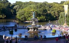 Central Park -- Bethesda Terrace/Fountain -- Mid-park at 72nd St. -- One of the most filmed and recognizable locations in all of New York City, Bethesda Terrace is often referred to as the heart of Central Park.
