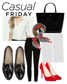 """Black or red"" by nkorenevska on Polyvore featuring Lacoste, River Island, Nly Shoes, Oris, Christian Louboutin and Moschino"