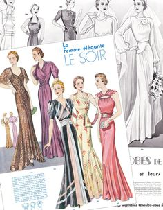 PDF instant download Summer 1938 haute couture by glassoffashion