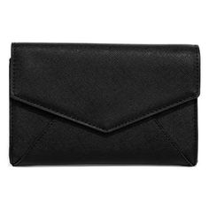 Chic Choice Black Clutch (€31) ❤ liked on Polyvore featuring bags, handbags, clutches, black, faux leather purses, vegan purses, lulu purses, vegan leather purses and party clutches
