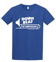Our exclusive heavyweight cotton 80th Anniversary Trombone T-shirt, comes in Blue, Black, or Grey (women's colors have more!) https://subforms.com/downbeat/store/product.asp?id=170