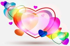 abstract colorful hearts for valentines day