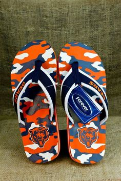 Women's Chicago Bears Cuce Shoes Navy Team Sandals
