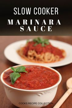 Homemade marinara sauce made in a slow cooker. Make it in large batches and free… Homemade marinara sauce made in a slow cooker. Make it in large batches and freeze for convenient weekday family dinners. You'll never need jar sauce again. Slow Cooker Recipes, Crockpot Recipes, Cooking Recipes, Healthy Recipes, Freezer Recipes, Dip Recipes, Pasta Recipes, Homemade Marinara, Marinara Sauce