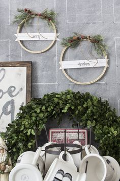 DIY Merry Christmas Embroidery Hoop Wreaths! A great craft that will match any Christmas decor! | AKA Design