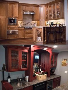 This company offers kitchen cabinet refacing and repainting services. They also provide built ins, kitchen cabinets, bars, bookcases, and more.