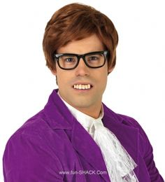 Mens Austin Powers Gigolo Fancy Dress Costume Brown Wig and Glasses Set Kit 90s Fancy Dress, Fancy Dress Masks, Fancy Dress Wigs, Fancy Dress Outfits, Fancy Dress Accessories, Costume Accessories, Unique Costumes, Fashion Brands, Film