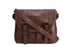 Handmade Vegetable Tanned Leather Men's Messenger Bag, Shoulder Bag, Satchel Bag 9042 ********************** We use selected thick genuine cow ...