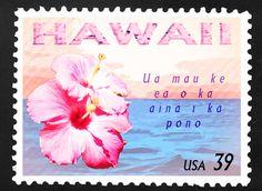 Hawaiian Stamp by IrishAficionado Hawaiian Quotes, Hawaiian Art, Illustrations Vintage, Postage Stamp Art, Aloha Hawaii, Vintage Hawaii, You Are The World, Hawaiian Islands, Mom Birthday