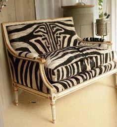 Zebra Settee