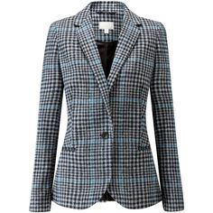 Buy Black Pure Collection Check Tailored Blazer from our Women's Coats & Jackets range at John Lewis & Partners. Pure Clothing, Print Jacket, Blazer Buttons, Black Blazers, Blazer Jacket, Dame, Pure Products, Collection, Outerwear Jackets