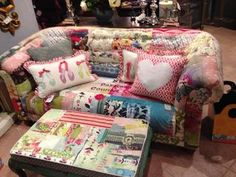 Patchwork Couch  Ottoman