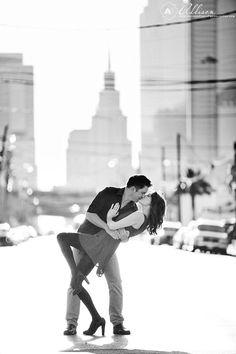 Romantic Downtown Dallas Engagement Portraits by Allison Davis Photography 009