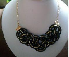 Collares Con Cuero de Serpiente Collar Tejido de Cuero Con