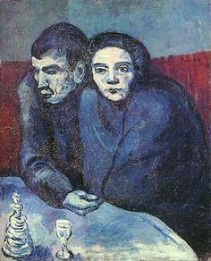 Couple dans un café 1903. Pablo Picasso (1881-1973)