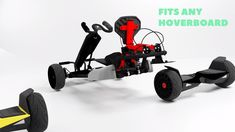 The ultimate hoverboard accessory, the GoKart Kit attaches into any hoverboard on the market through a clever strap system, and transforms your hoverboard into a fully functioning GoKart. Build A Go Kart, Diy Go Kart, Smart Roadster, Electric Go Kart, Electric Cars, Triumph Motorcycles, Custom Motorcycles, Go Kart Kits, Homemade Go Kart