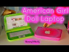 DIY American Girl Doll Laptop   Mini Apple Macbook Air - YouTube