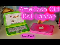 DIY American Girl Doll Laptop | Mini Apple Macbook Air - YouTube