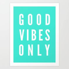 Good Vibes Only by LookHUMANword art print poster black white motivational quote inspirational words of wisdom motivationmonday Scandinavian fashionista fitness inspiration motivation typography home decor