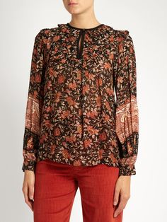 Floral-print ruffle-trimmed top | Masscob | MATCHESFASHION.COM UK