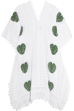 Shop on-sale Miguelina Tyra printed cotton-muslin and lace coverup. Browse other discount designer Beachwear & more on The Most Fashionable Fashion Outlet, THE OUTNET.COM