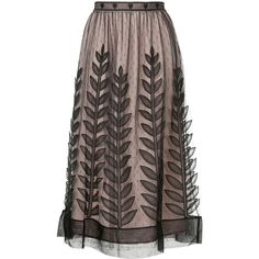 Red Valentino tulle layer midi skirt (428.975 HUF) ❤ liked on Polyvore featuring skirts, midi skirt, black, mid-calf skirt, double layer skirt, tulle skirt, knee length tulle skirt and multi layered skirt