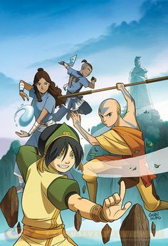 "Avatar: The Last Airbender ""The Rift""- official manga. ""The Rift"" is a manga trilogy that is a continuation of the ""The Promise"" and ""The Search"", which are part of a continuation story of the lives of Aang and the gang after Fire Lord Ozai was defeated. Avatar Airbender, Avatar Aang, Avatar Legend Of Aang, Team Avatar, Darkhorse Comics, Zuko, Avatar Equipe, The Legend Of Korra, Fire Nation"
