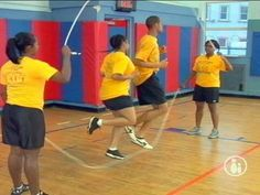 i'm going to make my kids be on a jump rope team. lol Double Dutch Basics