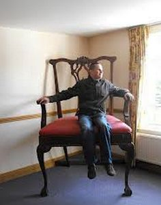 Harry In the Big Chair at Alton Towers Hotel