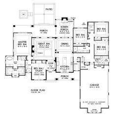 Check out the first floor plan of house plan 1436, The Havelock. #WeDesignDreams #DonGardnerArchitects
