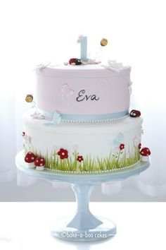 Garden party themed cake.
