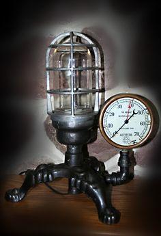 #Steampunk lamp by Jeffrey Press