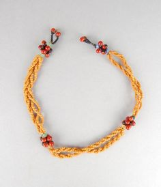 Necklet made of beads. Necklace Types, Beaded Necklace, Necklaces, Provinces Of South Africa, Xhosa, African Trade Beads, British Museum, Love Letters, African Art