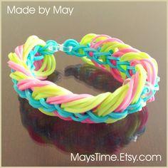 Rainbow Loom Bracelet - Triple Link Chain - Rainbow Loom Bracelets $6.95