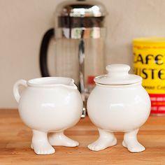 Footed Sugar Bowl and Creamer Set