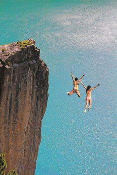 Cliff Diving (Already done this but want to do it again and again)