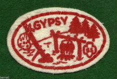 VINTAGE GIRL SCOUT CAMP PATCH - GYPSY - FELT