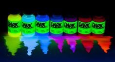GLOWING Liquid: Neon/UV/Blacklight Reactive Dye / Paint $1.99