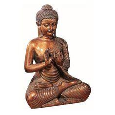 DecMode Meditating Buddha Sculpture Bronze - 75304