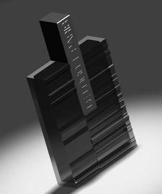 Flacon 2 inspiration P. Soulages Design Jean-François Barbier.