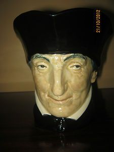 RARE ROYAL DOULTON CARDINAL TRIAL COLOURWAY - Black instead of red character jug/toby mug