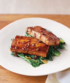 Glazed Tofu With Bok Choy | Think tofu is bland and boring? Try these spiced-up recipes for soups, stir-fries, noodle dishes, and more.