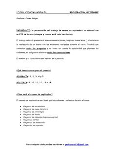 1º ESO CIENCIAS SOCIALES. REFUERZO Y                                  RECUPERACIÓN .